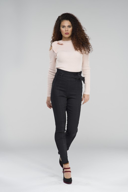 BOW COLD SHOULDER JUMPER