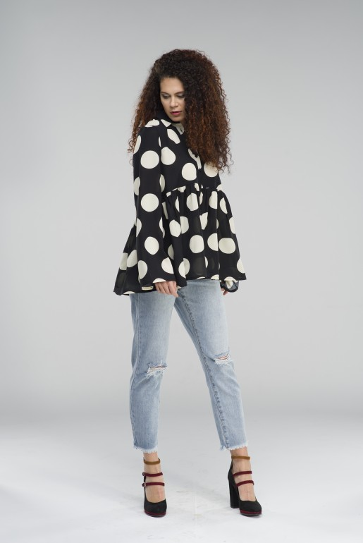OVERSIZED POLKA DOT SHIRT - Image 3