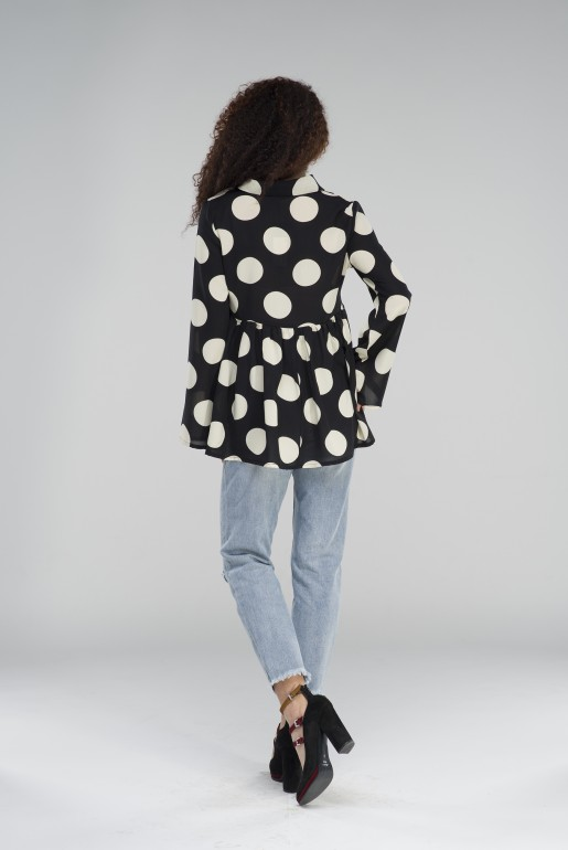 OVERSIZED POLKA DOT SHIRT - Image 4