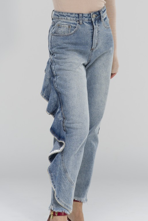 HIGH WAIST STRAIGHT WITH SIDE FRILL - Image 5