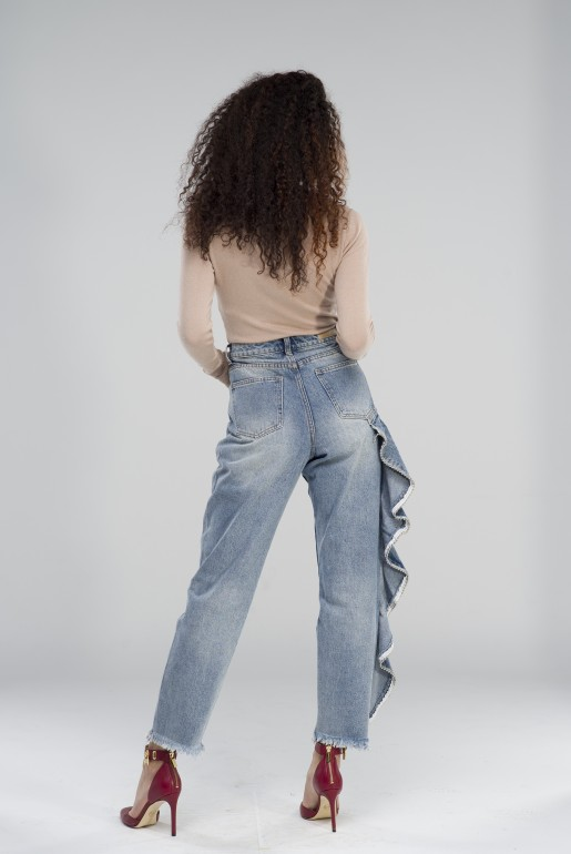 HIGH WAIST STRAIGHT WITH SIDE FRILL - Image 4