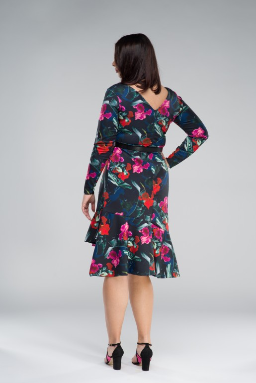 BODYCON DRESS IN WINTER ORCHID PRINT - Image 5