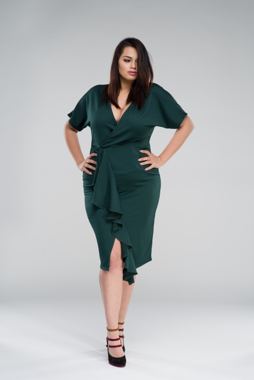 BODYCON DRESS WITH FRILL - Image 2