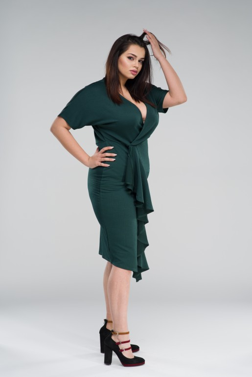 BODYCON DRESS WITH FRILL - Image 4