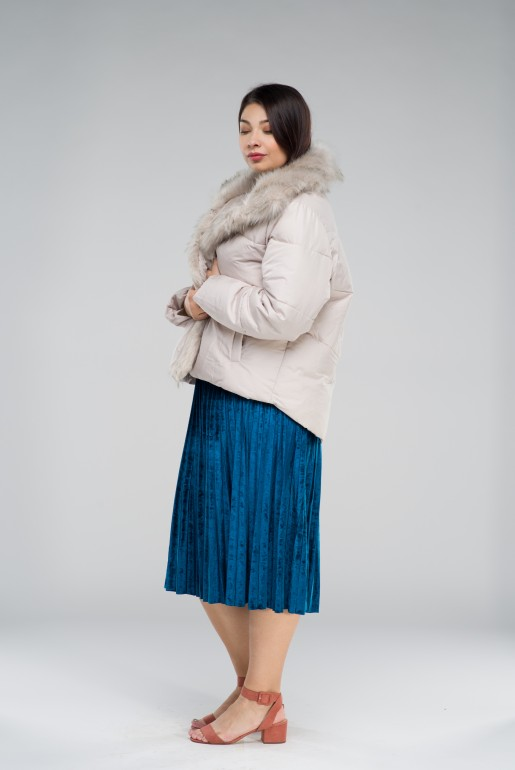 PADDED JACKET WITH FAUX FUR TRIM - Image 3