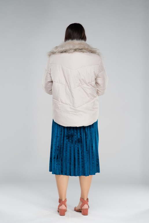 PADDED JACKET WITH FAUX FUR TRIM - Image 5