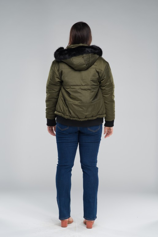 PADDED JACKET WITH FUR TRIM - Image 4