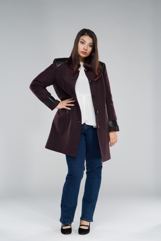 WOOL COAT MARTYNA IN WINE