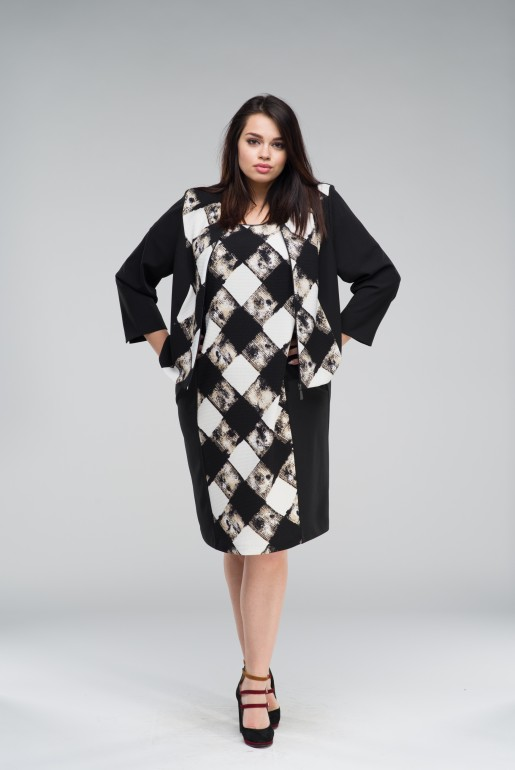 Set Dress with Jacket in checkers