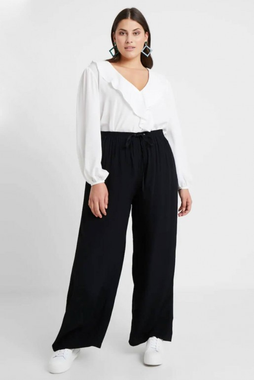 WRAP BLOUSE IN SELF STRIPE - Image 4