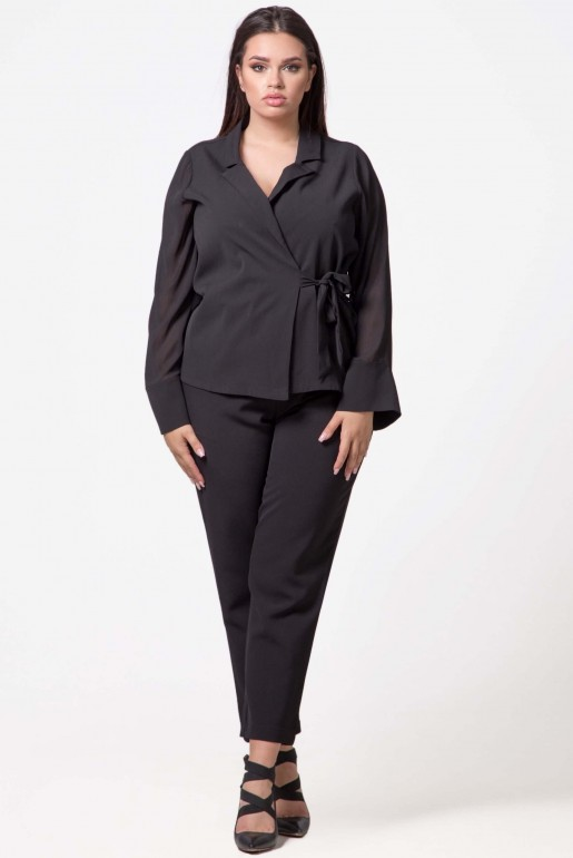 WRAP TOP WITH TIE DETAIL - Image 1