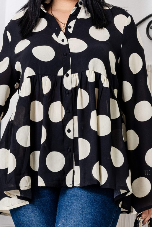 OVERSIZED POLKA DOT SHIRT - Image 7