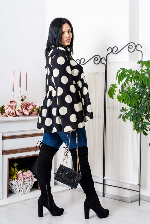 OVERSIZED POLKA DOT SHIRT - Image 6