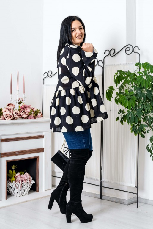 OVERSIZED POLKA DOT SHIRT - Image 2