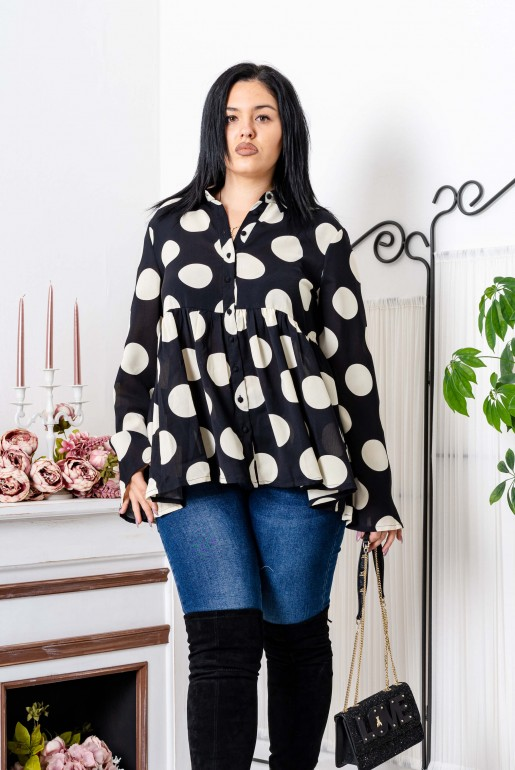 OVERSIZED POLKA DOT SHIRT - Image 5