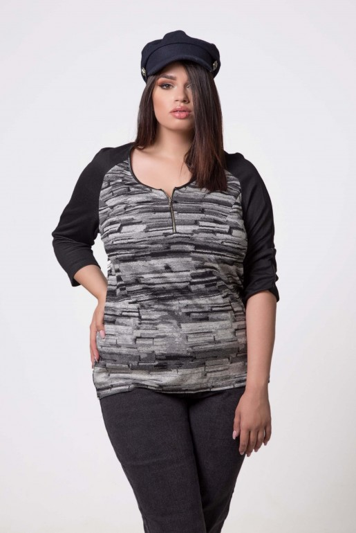 TUNIK IN BLACK AND GREY