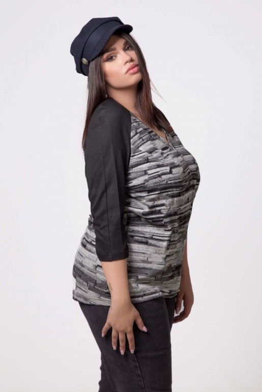 TUNIK IN BLACK AND GREY - Image 3