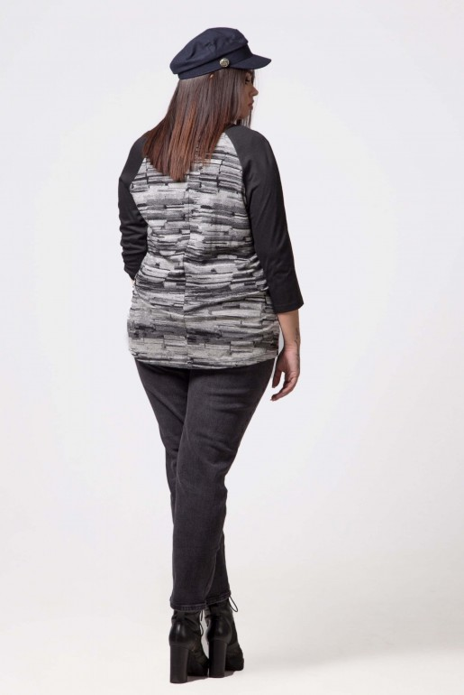 TUNIK IN BLACK AND GREY - Image 4