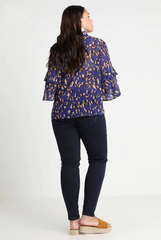 SHIRT IN LEOPARD PRINT WITH FLUTED CUFF - Image 3