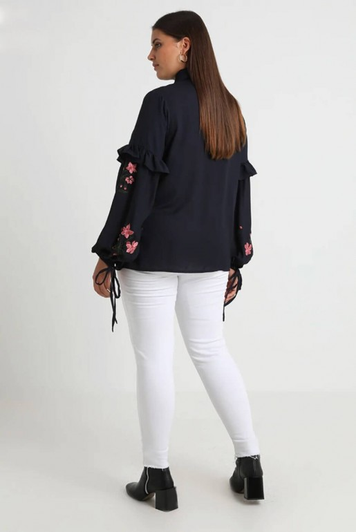 SHIRT WITH EMBROIDERED SLEEVES - Image 3