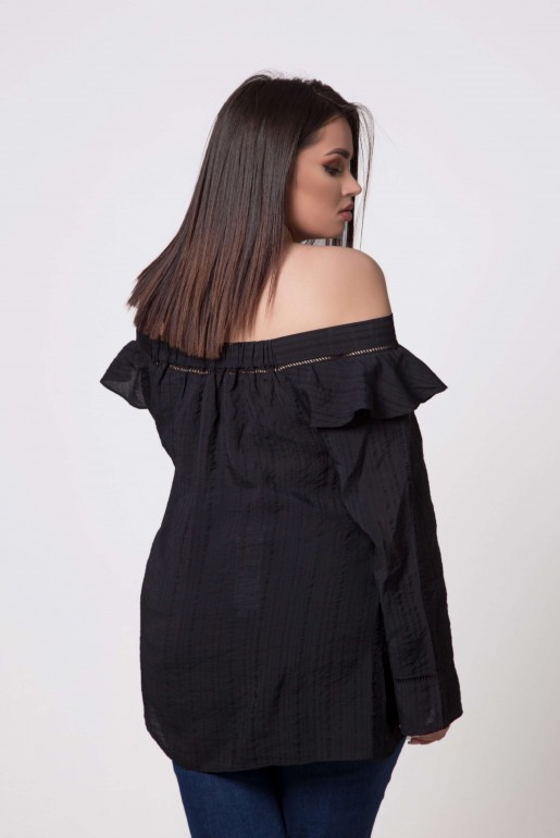 BARDOT TOP WITH RUFFLE - Image 4