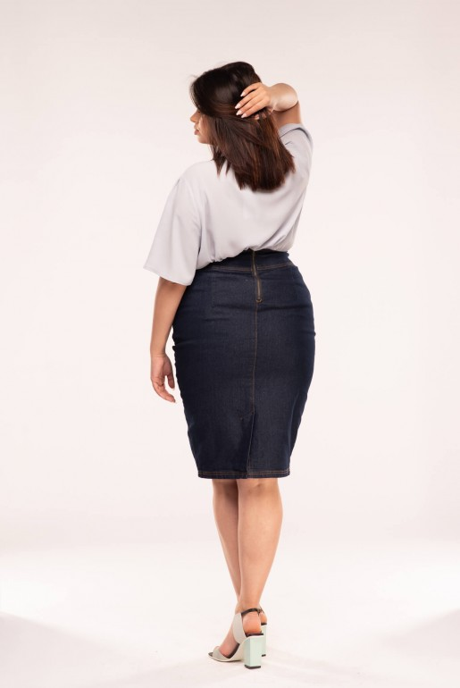 DENIM SKIRT WITH BUCKLES - Image 4