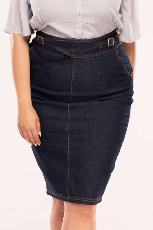 DENIM SKIRT WITH BUCKLES - Image 5