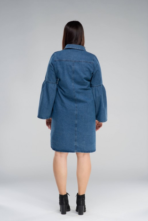DENIM SHIRT DRESS WITH EMBROIDERY - Image 4