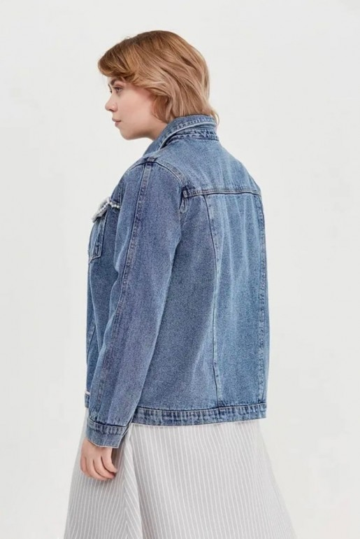 DENIM JACKET WITH PEARLS - Image 4