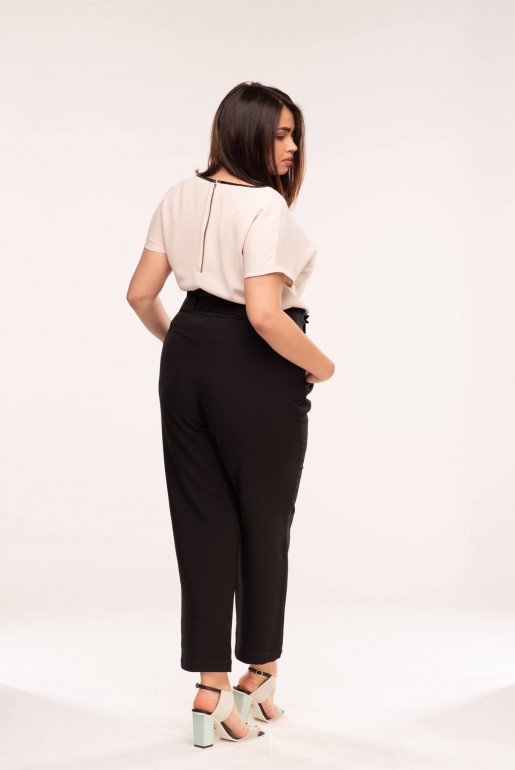 PEG TROUSER WITH DOUBLE BUCKLE - Image 4
