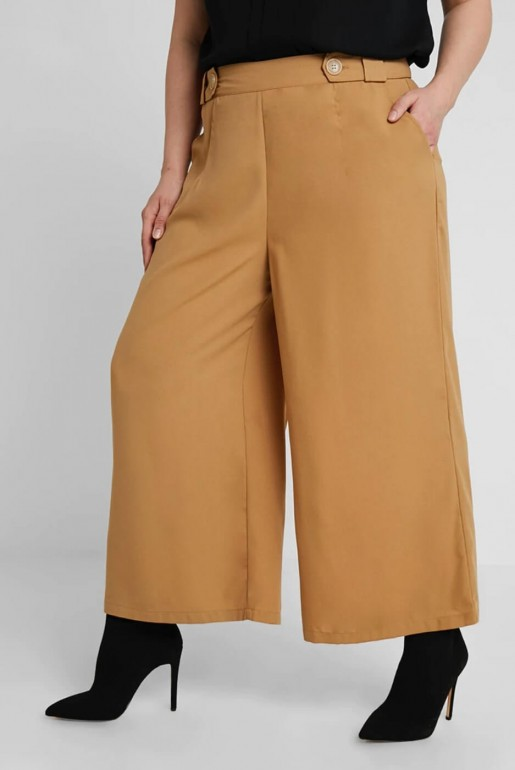 CROP TROUSER WITH BUTTON - Image 3