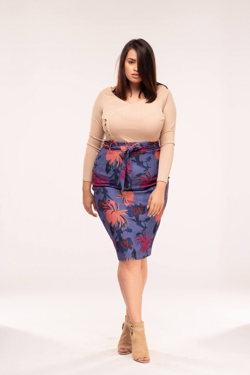 PENCIL SKIRT IN FOXTROT FLORAL