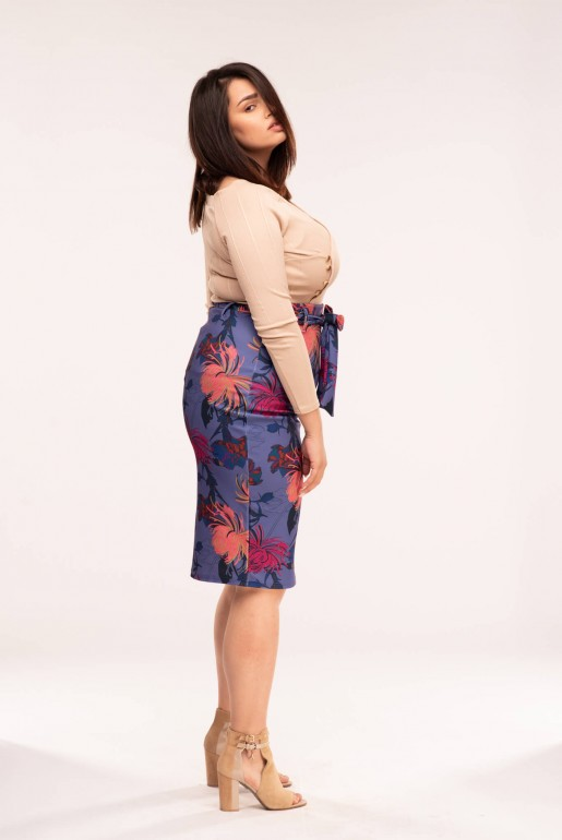 PENCIL SKIRT IN FOXTROT FLORAL - Image 2