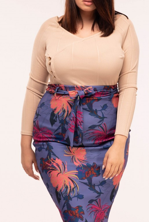 PENCIL SKIRT IN FOXTROT FLORAL - Image 4