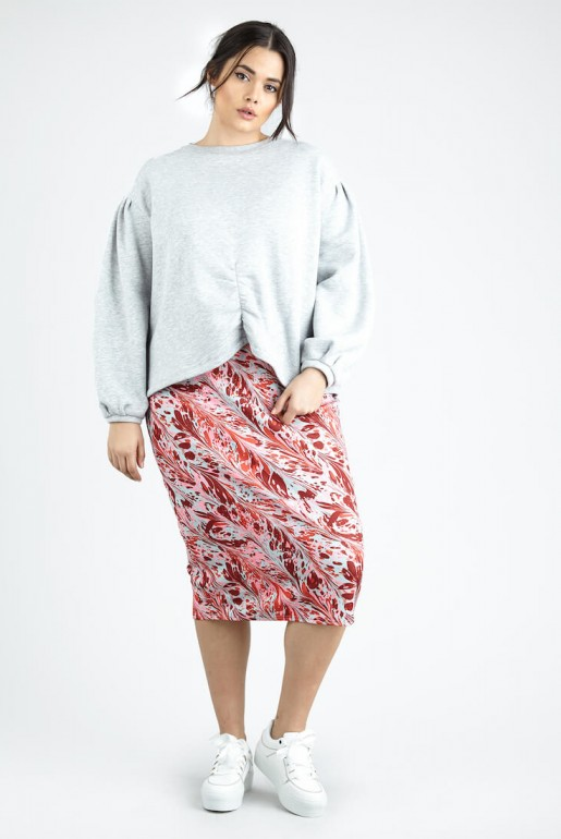 PENCIL SKIRT IN SWIRL PRINT