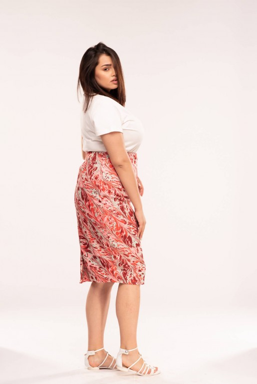 PENCIL SKIRT IN SWIRL PRINT - Image 3