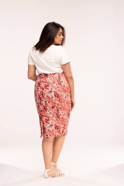 PENCIL SKIRT IN SWIRL PRINT - Image 4