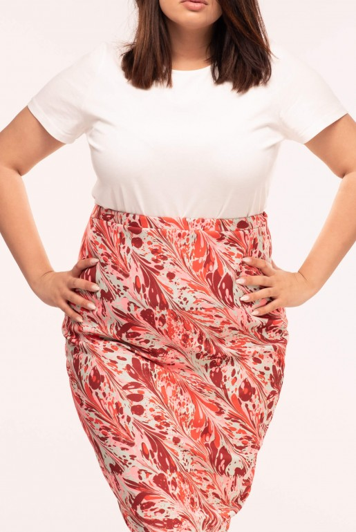 PENCIL SKIRT IN SWIRL PRINT - Image 5