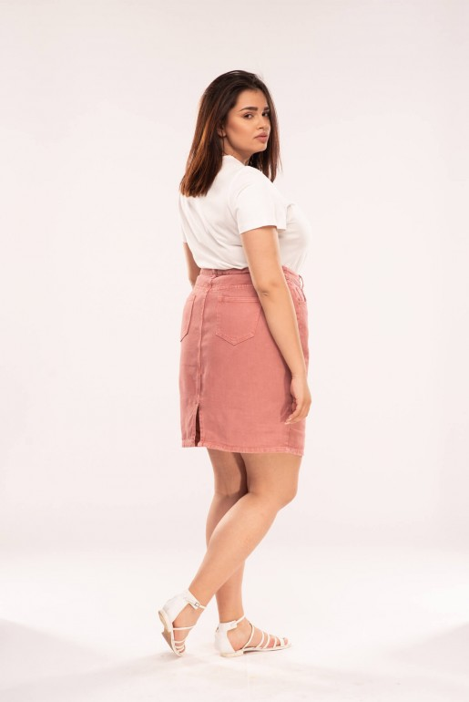 PENCIL SKIRT IN ROSE WASH