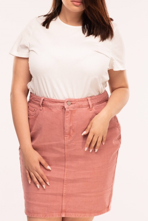 PENCIL SKIRT IN ROSE WASH - Image 3