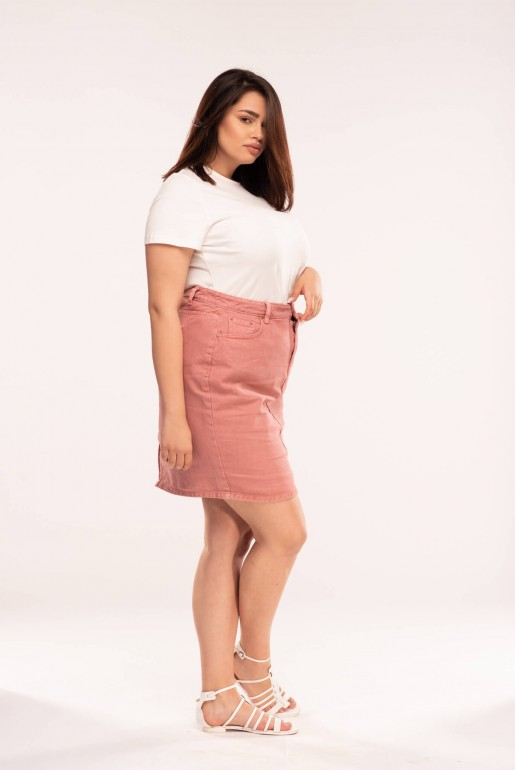 PENCIL SKIRT IN ROSE WASH - Image 4