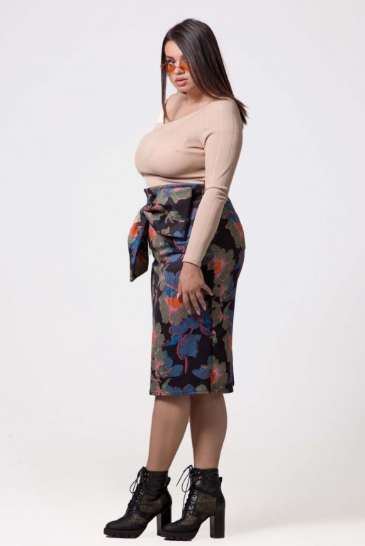 PENCIL SKIRT IN IVY FLORAL - Image 2
