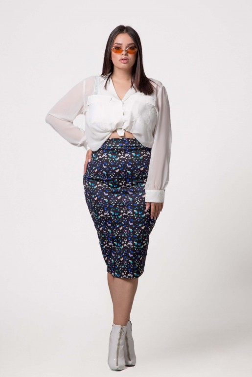 PENCIL SKIRT IN ABSTRACT PRINT