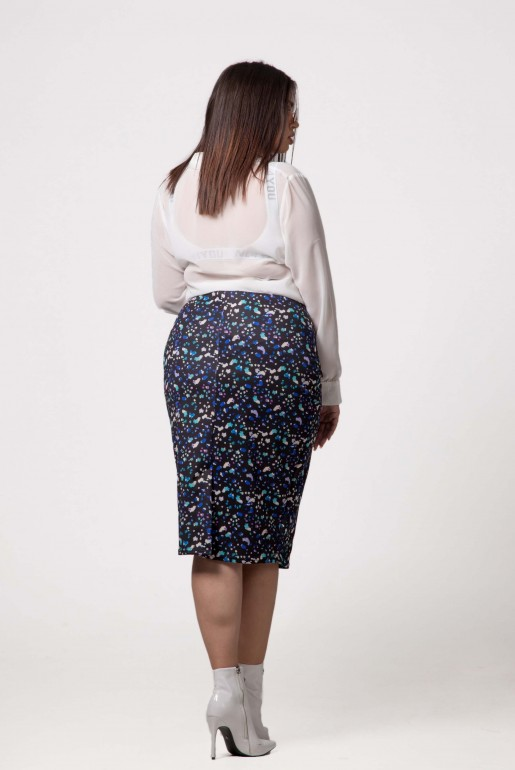 PENCIL SKIRT IN ABSTRACT PRINT - Image 4