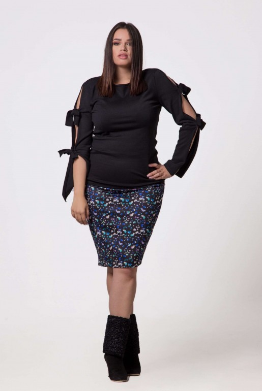 PENCIL SKIRT IN ABSTRACT PRINT - Image 5