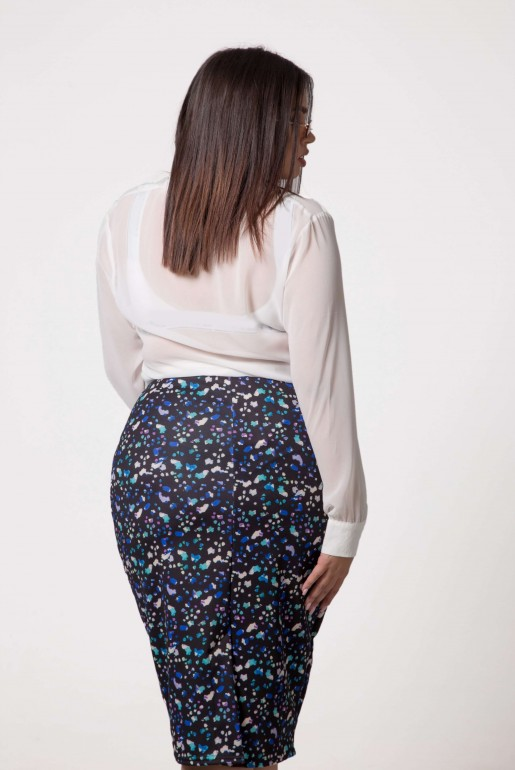 PENCIL SKIRT IN ABSTRACT PRINT - Image 6