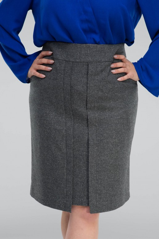 STRAIGHT SKIRT IN GREY