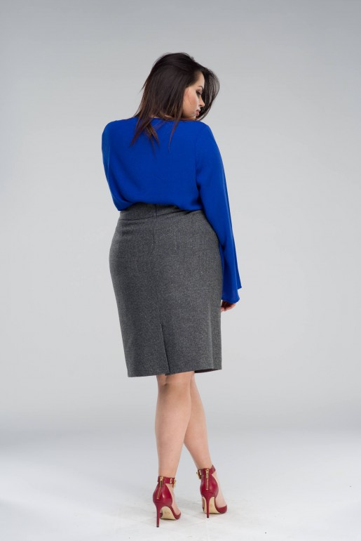 STRAIGHT SKIRT IN GREY - Image 3