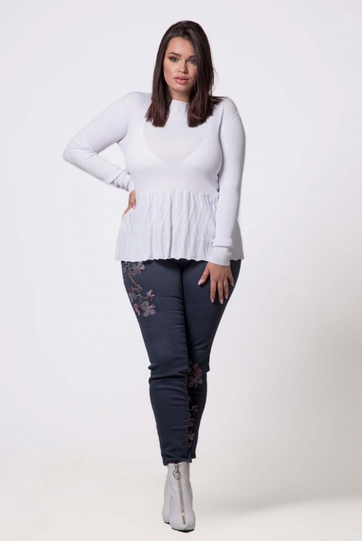 JUMPER WITH TEXTURED PEPLUM - Image 3