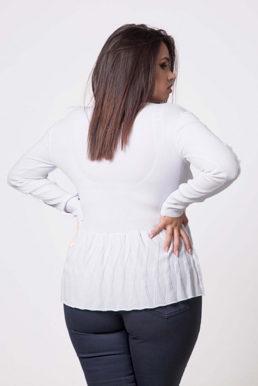 JUMPER WITH TEXTURED PEPLUM - Image 4